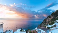 Sunset in Positano, Amalfi Coast, Italy Fine Art Print