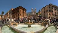 Fontana Della Barcaccia at Piazza Di Spagna, Rome, Lazio, Italy Fine Art Print