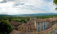 Clouds over a town, Place du Terrail, Bonnieux, Vaucluse, Provence-Alpes-Cote d'Azur, France by Panoramic Images - various sizes