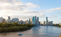 Buildings at the waterfront, Brisbane, Queensland, Australia by Panoramic Images - various sizes