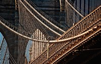 Close-up of the Brooklyn Bridge, New York City, New York State by Panoramic Images - various sizes