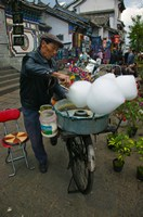 Candy Floss Vendor, Old Town, Dali, Yunnan Province, China by Panoramic Images - various sizes