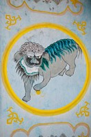Tiger mural on a temple wall, Mingshan, Fengdu Ghost City, Fengdu, Yangtze River, Chongqing Province, China by Panoramic Images - various sizes