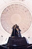 Statue of Thomas Jefferson in a memorial, Jefferson Memorial, Washington DC, USA Fine Art Print