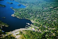 Aerial view of a bay, Gravenhurst Bay, Gravenhurst, Ontario, Canada by Panoramic Images - various sizes
