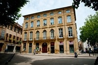Facade of a building, Place Forbin, Cours Mirabeau, Aix-En-Provence, Bouches-Du-Rhone, Provence-Alpes-Cote d'Azur, France by Panoramic Images - various sizes, FulcrumGallery.com brand