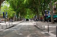 Street scene, Cours Mirabeau, Aix-En-Provence, Bouches-Du-Rhone, Provence-Alpes-Cote d'Azur, France by Panoramic Images - various sizes