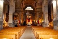 Interiors of a church, Saint Esprit Church, Aix-En-Provence, Bouches-Du-Rhone, Provence-Alpes-Cote d'Azur, France by Panoramic Images - various sizes