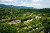 Aerial view of a plant nursery, Menerbes, Vaucluse, Provence-Alpes-Cote d'Azur, France by Panoramic Images - various sizes