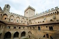 Courtyard of a palace, Palais des Papes, Avignon, Vaucluse, Provence-Alpes-Cote d'Azur, France by Panoramic Images - various sizes