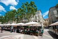 Tourists at sidewalk cafes, Place de l'Horloge, Avignon, Vaucluse, Provence-Alpes-Cote d'Azur, France by Panoramic Images - various sizes - $54.99