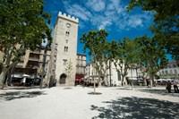 Buildings in a town, Place Saint-Jean le Vieux, Avignon, Vaucluse, Provence-Alpes-Cote d'Azur, France by Panoramic Images - various sizes