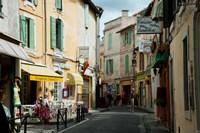 Buildings along a street, Rue Porte de Laure, Arles, Bouches-Du-Rhone, Provence-Alpes-Cote d'Azur, France by Panoramic Images - various sizes