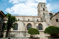 Low angle view of a bell tower, Church Of St. Trophime, Arles, Bouches-Du-Rhone, Provence-Alpes-Cote d'Azur, France by Panoramic Images - various sizes, FulcrumGallery.com brand