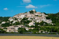 Town on a hill, D51, Sault, Vaucluse, Provence-Alpes-Cote d'Azur, France by Panoramic Images - various sizes, FulcrumGallery.com brand