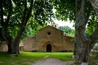Facade of an old church, Vaugines, Vaucluse, Provence-Alpes-Cote d'Azur, France by Panoramic Images - various sizes
