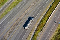 Truck moving on a highway, Interstate 80, Park City, Utah, USA by Panoramic Images - various sizes