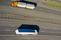 Trucks moving on a highway, Interstate 80, Park City, Utah, USA by Panoramic Images - various sizes