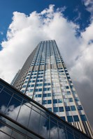 Low angle view of a tower, Willy-Brandt-Platz, European Central Bank, Frankfurt, Hesse, Germany by Panoramic Images - various sizes