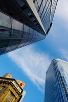 Low angle view of skyscrapers, Frankfurt, Hesse, Germany by Panoramic Images - various sizes