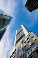 Low angle view of skyscrapers, Commerzbank Tower, Frankfurt, Hesse, Germany by Panoramic Images - various sizes