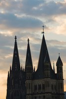 Great Saint Martin Church and Cologne Cathedral, North Rhine Westphalia, Germany by Panoramic Images - various sizes