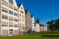 Buildings along Frankenwerft Embankment, Cologne, North Rhine Westphalia, Germany by Panoramic Images - various sizes