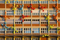 Flossies Figures covering a Building, Medienhafen, Dusseldorf, North Rhine Westphalia, Germany by Panoramic Images - various sizes, FulcrumGallery.com brand