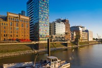 Buildings at the waterfront, Medienhafen, Dusseldorf, North Rhine Westphalia, Germany by Panoramic Images - various sizes