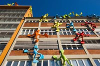 Facade of a Building, Medienhafen, Dusseldorf, North Rhine Westphalia, Germany by Panoramic Images - various sizes, FulcrumGallery.com brand