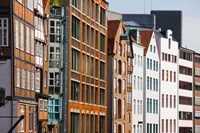 Warehouses in a row, Nicolai Fleet Canal, Hamburg, Germany by Panoramic Images - various sizes, FulcrumGallery.com brand