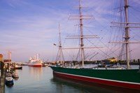 Cap San Diego and Rickmer Rickmers ships at a harbor, Hamburg, Germany by Panoramic Images - various sizes, FulcrumGallery.com brand