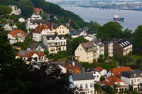 Houses in a town, Blankenese, Hamburg, Germany by Panoramic Images - various sizes, FulcrumGallery.com brand
