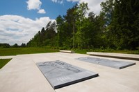 Bergen-Belsen WW2 Concentration Camp, site of destroyed concentration camp, Lower Saxony, Germany Fine Art Print