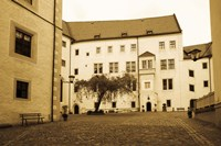 Facade of the castle site of famous WW2 prisoner of war camp, Colditz Castle, Colditz, Saxony, Germany Fine Art Print