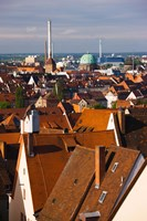 High angle view of buildings in a city, Nuremberg, Bavaria, Germany by Panoramic Images - various sizes, FulcrumGallery.com brand