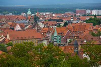 High angle view of buildings in a city, Bamberg, Bavaria, Germany by Panoramic Images - various sizes