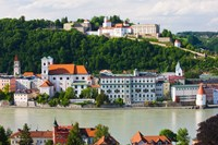 Town at the waterfront, Inn River, Passau, Bavaria, Germany by Panoramic Images - various sizes - $54.99