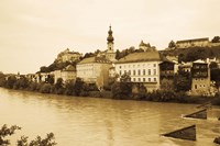 Medieval town at the waterfront, Salzach River, Burghausen, Bavaria, Germany by Panoramic Images - various sizes