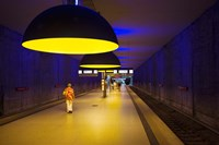Interiors of an underground station, Westfriedhof, Munich U-Bahn, Munich, Bavaria, Germany by Panoramic Images - various sizes