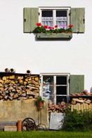 Farmhouse, Lenggries, Bavaria, Germany Fine Art Print