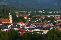 High angle view of buildings in a town, Bad Tolz, Bavaria, Germany by Panoramic Images - various sizes