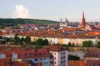 High angle view of buildings along a river, Main River, Wurzburg, Lower Franconia, Bavaria, Germany by Panoramic Images - various sizes, FulcrumGallery.com brand