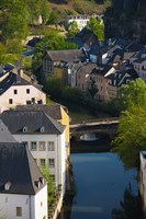 Houses in a town, Grund, Luxembourg City, Luxembourg by Panoramic Images - various sizes, FulcrumGallery.com brand