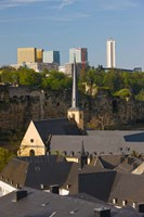 Church in a city, St. Jean du Grund Church, Grund, Luxembourg City, Luxembourg by Panoramic Images - various sizes