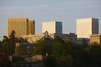 Buildings in a city, Kirchberg Plateau, Luxembourg City, Luxembourg by Panoramic Images - various sizes