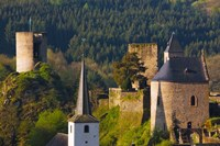 Historical buildings in a town, Esch-sur-Sure, Sure River Valley, Luxembourg by Panoramic Images - various sizes, FulcrumGallery.com brand