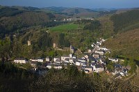 High angle view of buildings in a town, Esch-sur-Sure, Sure River Valley, Luxembourg by Panoramic Images - various sizes