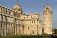 Tourists at cathedral, Pisa Cathedral, Leaning Tower of Pisa, Piazza Dei Miracoli, Pisa, Tuscany, Italy by Panoramic Images - various sizes - $54.99