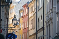 Facade of Buildings in Gamla Stan, Stockholm, Sweden by Panoramic Images - various sizes - $54.99